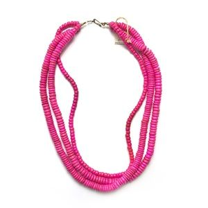 Pink Beaded Layered Necklace Made in Philippines